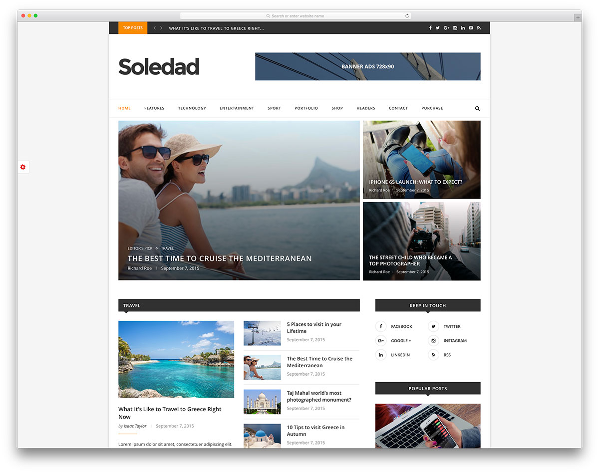 soledad-simple-magazine-website-template