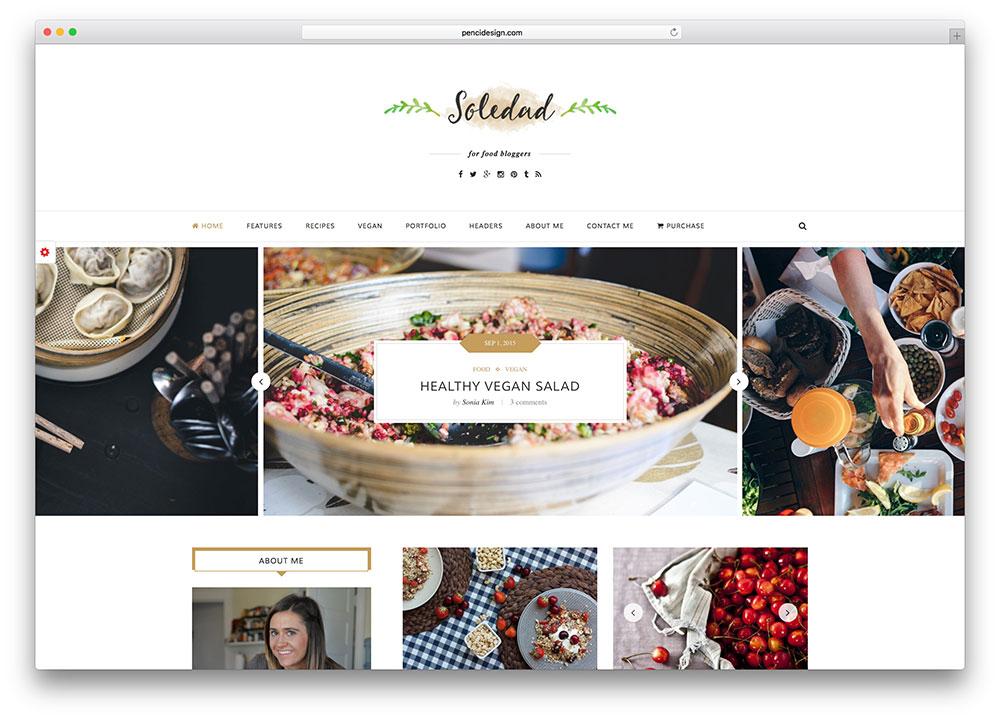 soledad-tumblr-style-food-blog-theme