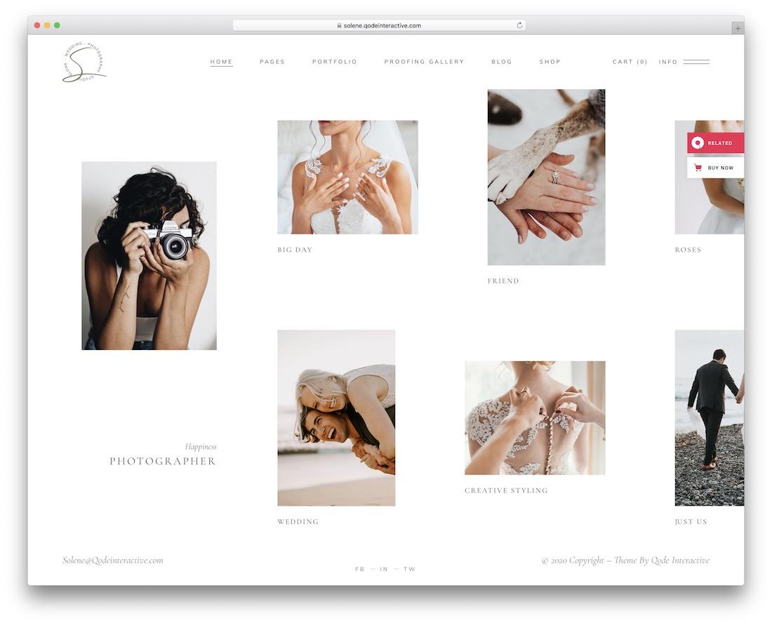 solene photo sharing wordpress theme
