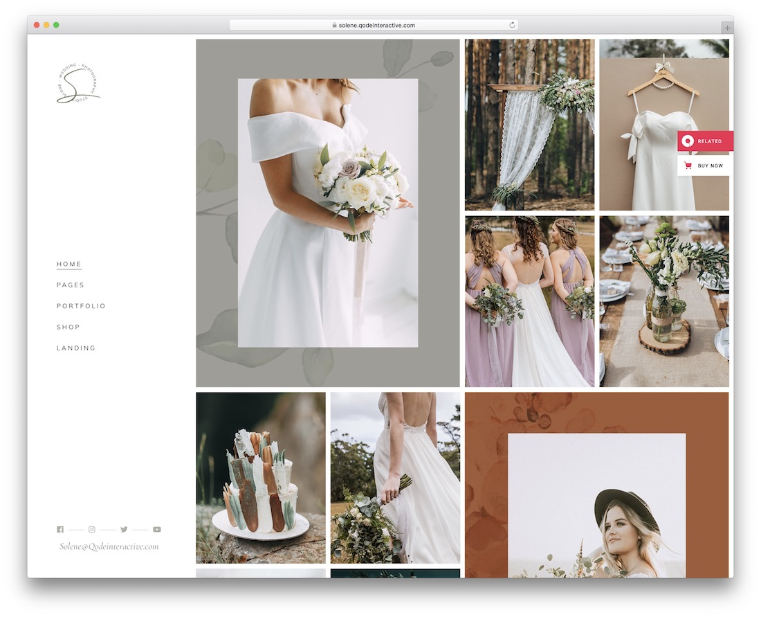 solene wedding photography wordpress theme