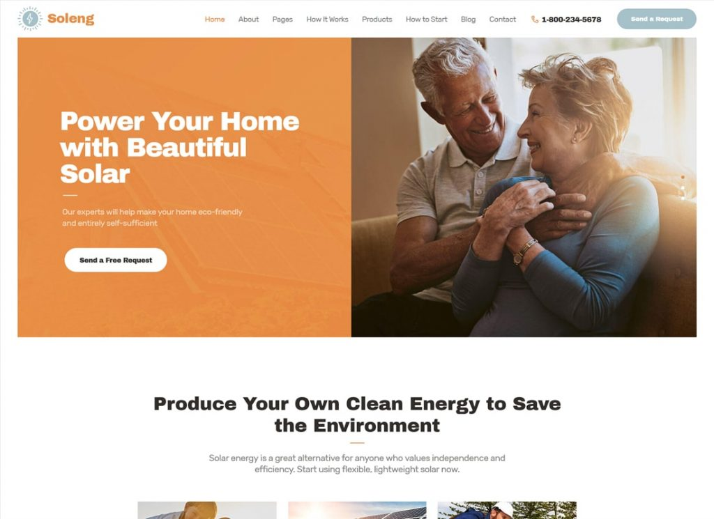 Soleng | A Solar Energy Company WordPress Theme