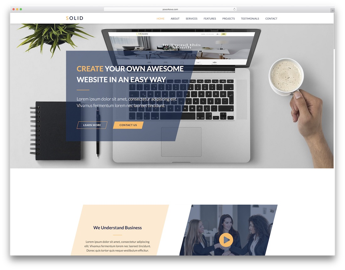 solid adobe muse template