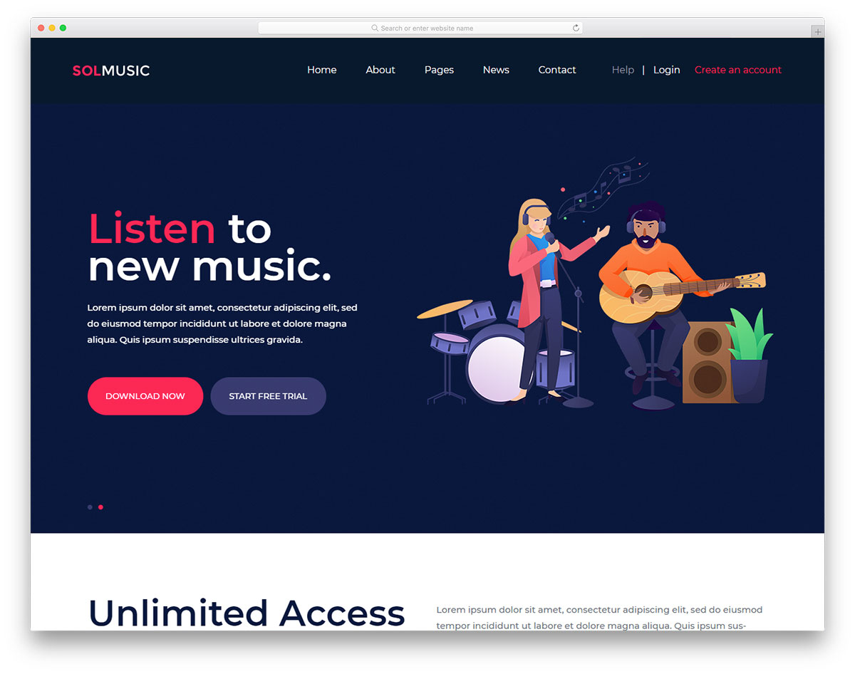 Solmusic Free Template