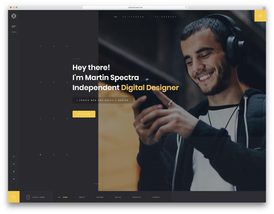solonick musician website template
