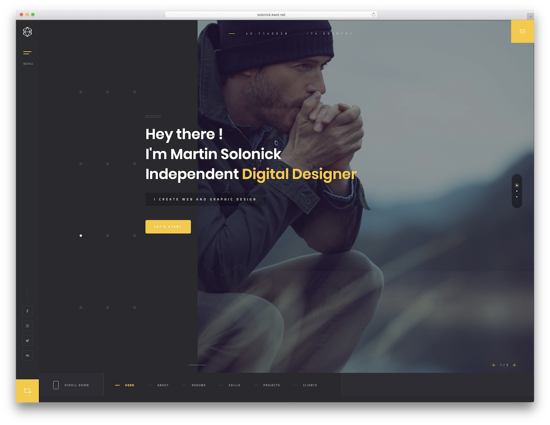 solonick parallax website template
