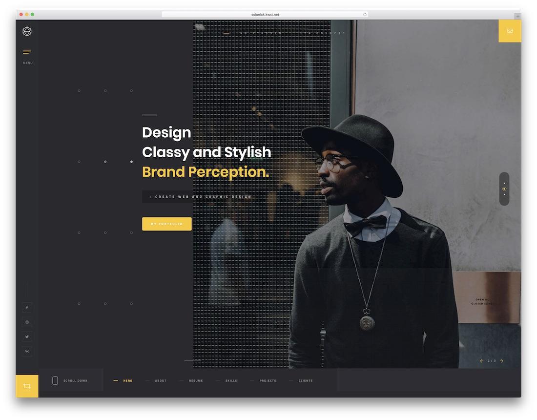 solonick resume website template - Resume Website Template