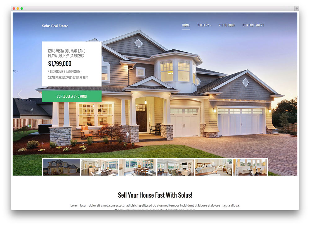 36 best real estate wordpress themes for agencies for Modern house website