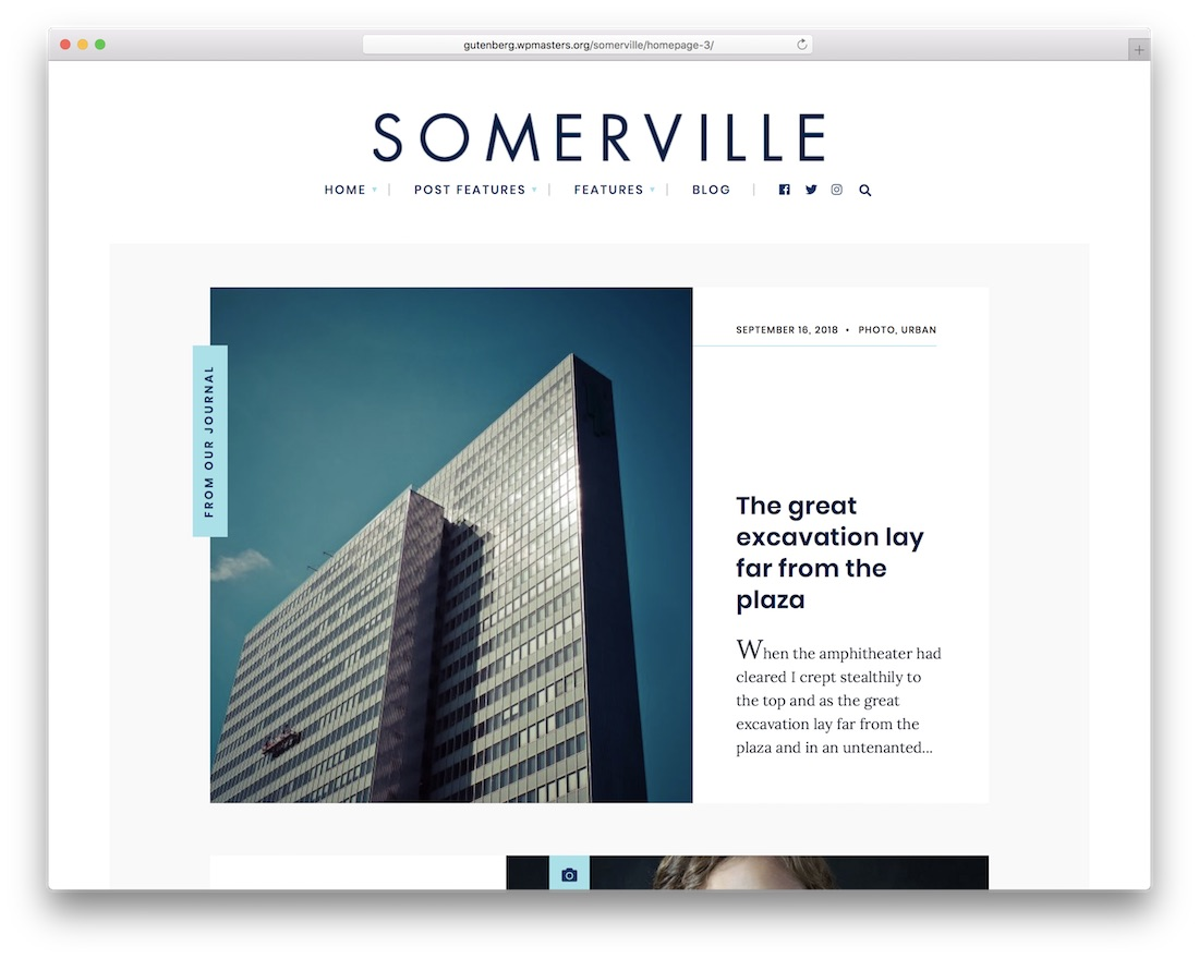 somerville wordpress theme for writers