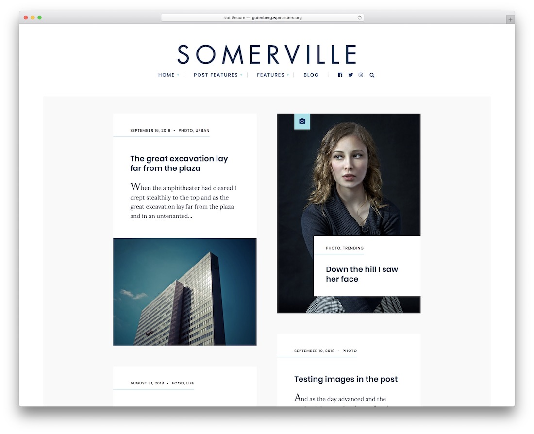 somerville hipster wordpress theme