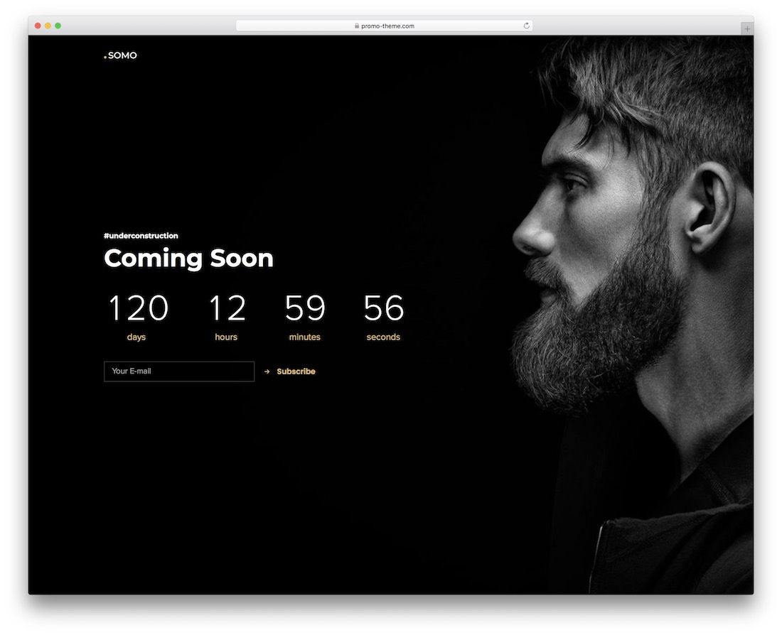 somo coming soon wordpress theme