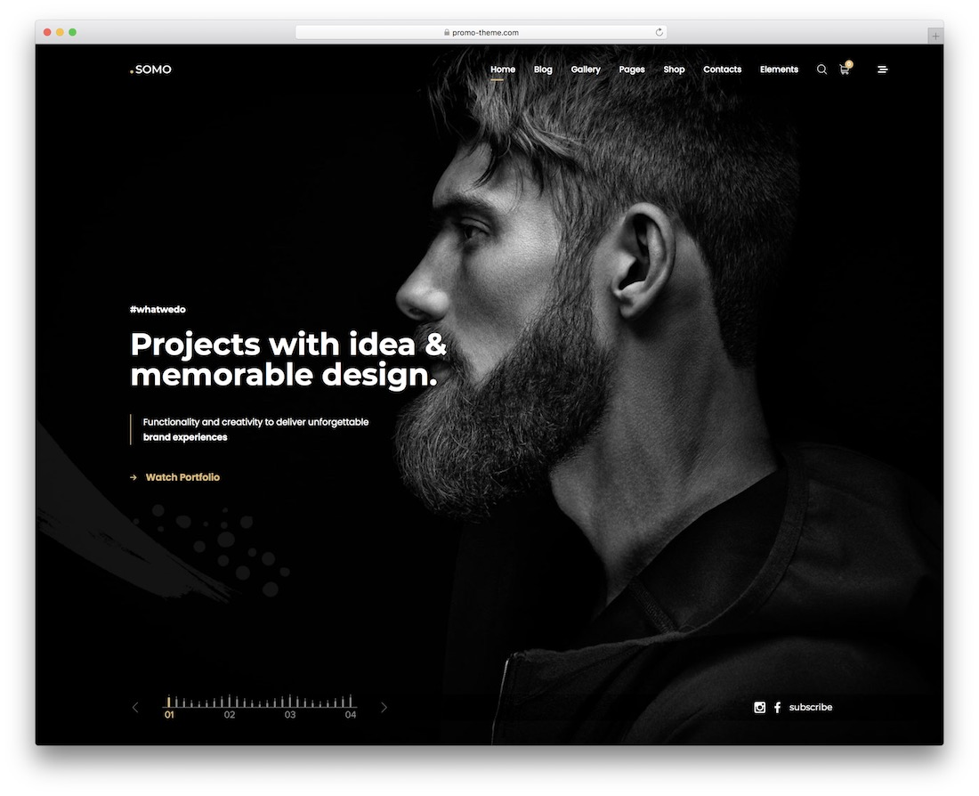 somo full screen wordpress theme