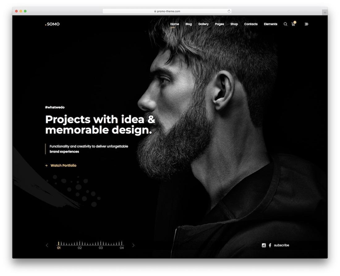 somo wordpress theme for designers