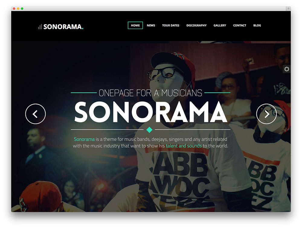 sonorama fullscreen music theme