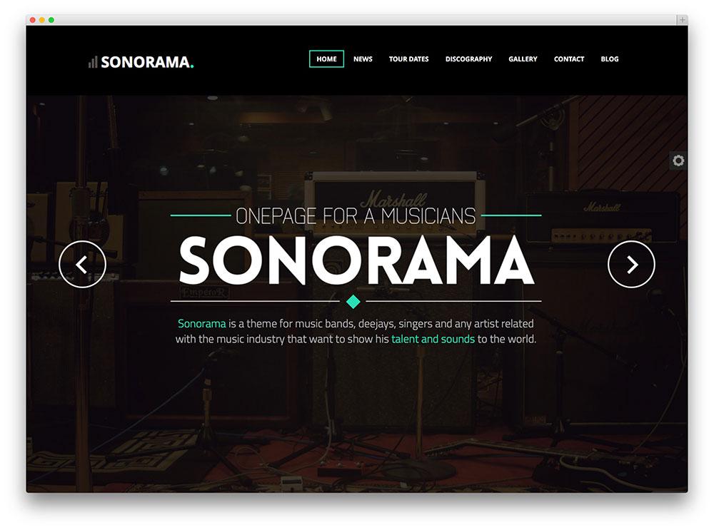 sonorama apt music wordpress theme