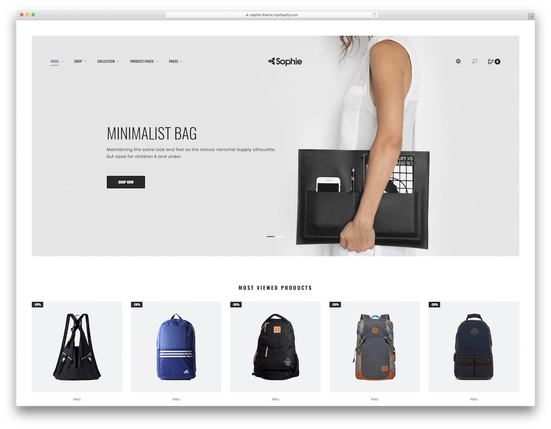 sophie fashion shopify theme