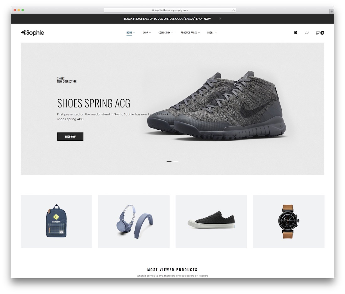 sophie shopify technology theme