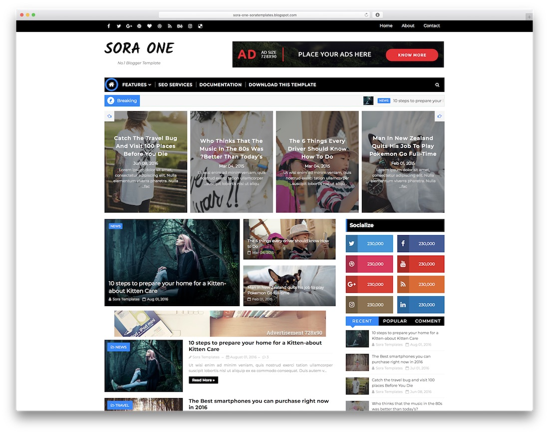 45 Best Free Responsive Blogger Templates 2019 Colorlib