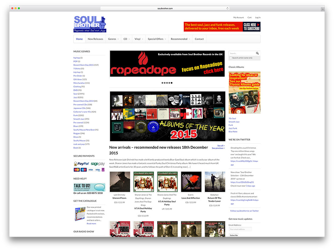 soulbrother-music-shop-woocommerce-website