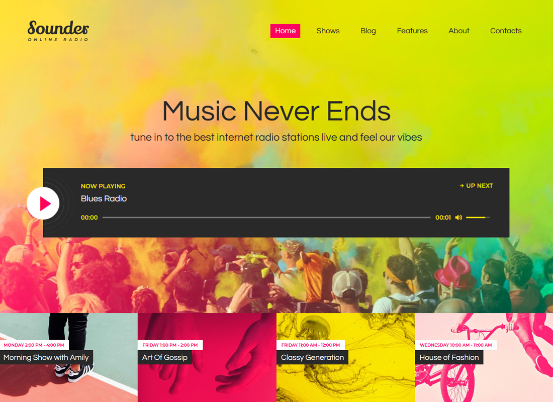 Sounder | Online Radio WordPress Theme