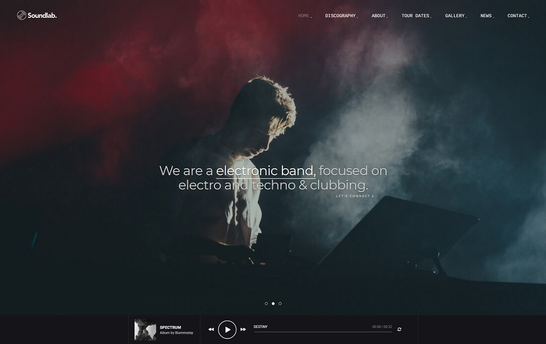soundlab musician website template