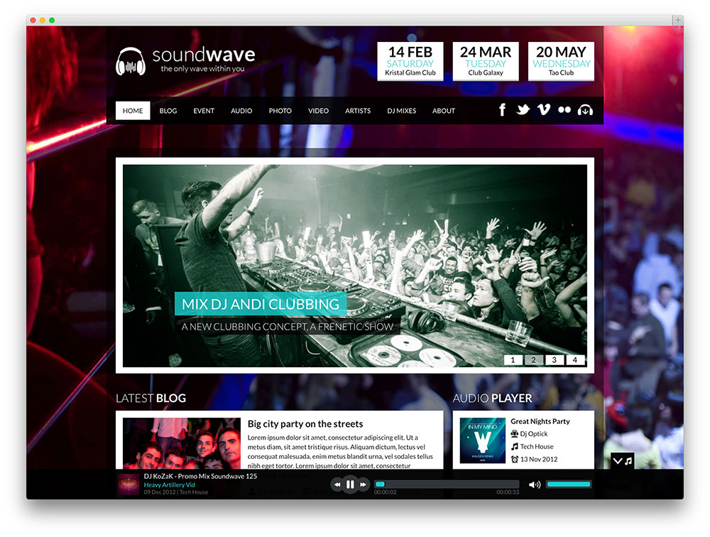 soundwave best-seller WordPress tema