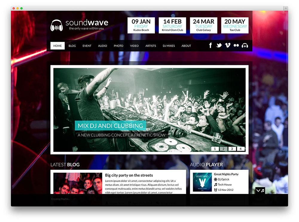 soundwave music event theme
