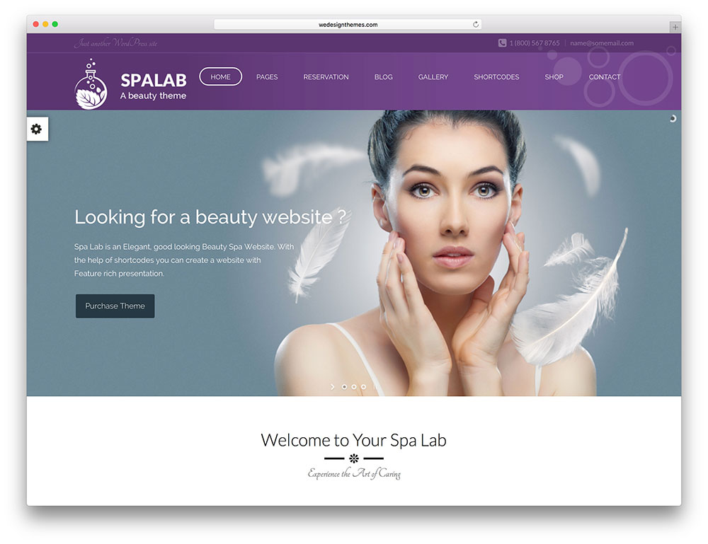 spa lab creative beauty salon theme