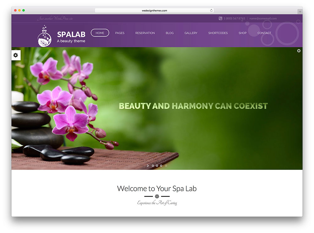spa lab - girly beauty salon theme