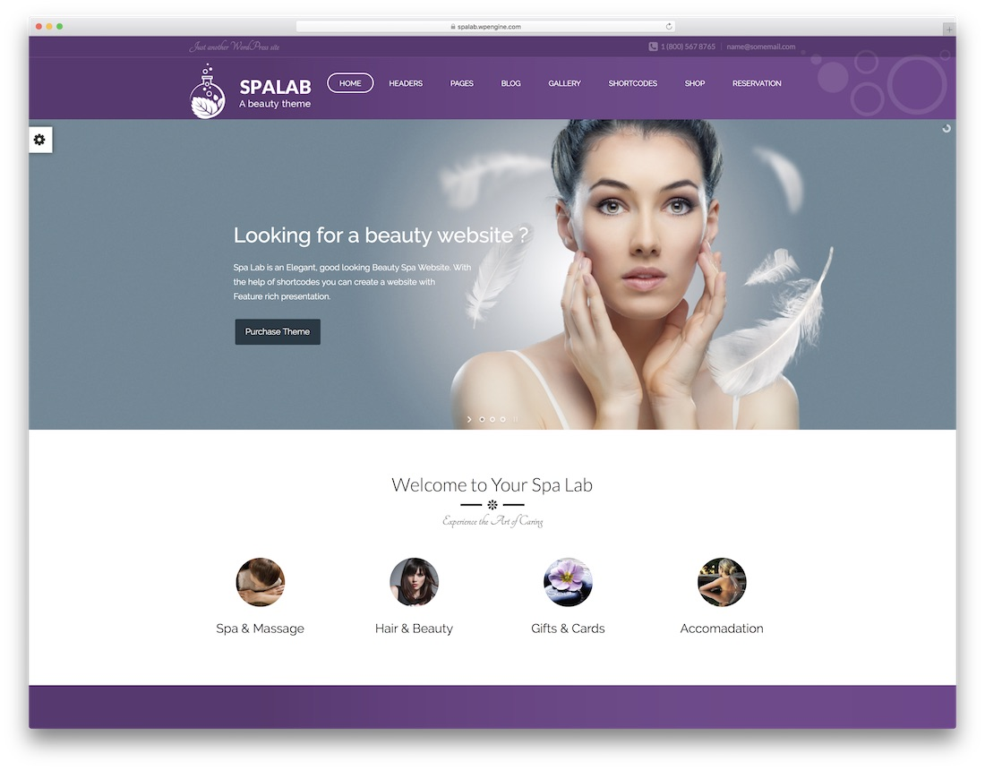 spa lab physiotherapy chiropractor wordpress theme