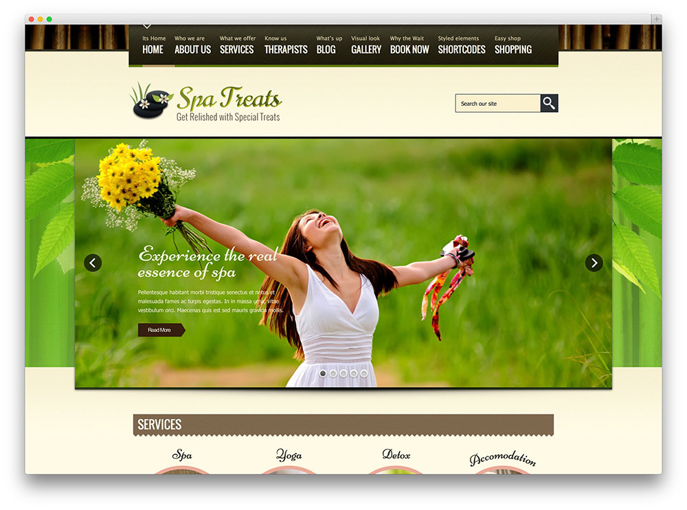 spa treats multipurpose theme