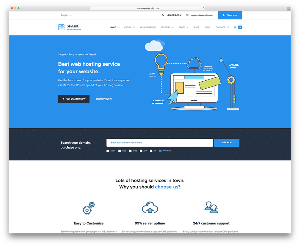 31 Best Hosting WordPress Themes With WHMCS Integration 2019 - Colorlib