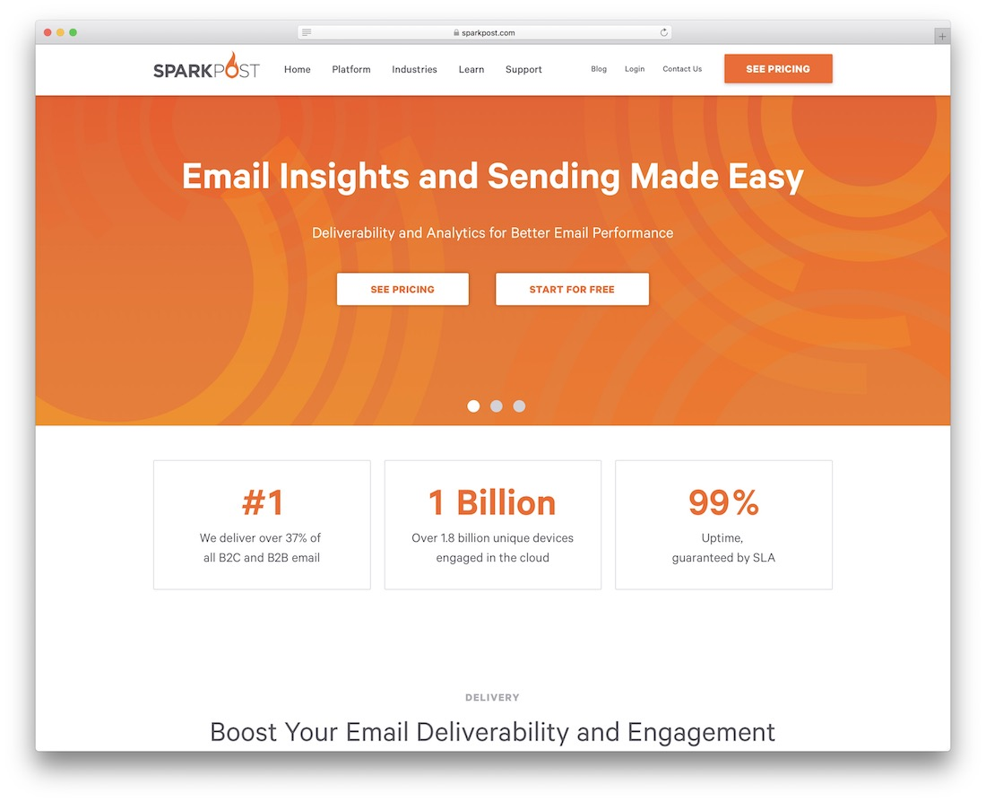 sparkpost email platform and insights