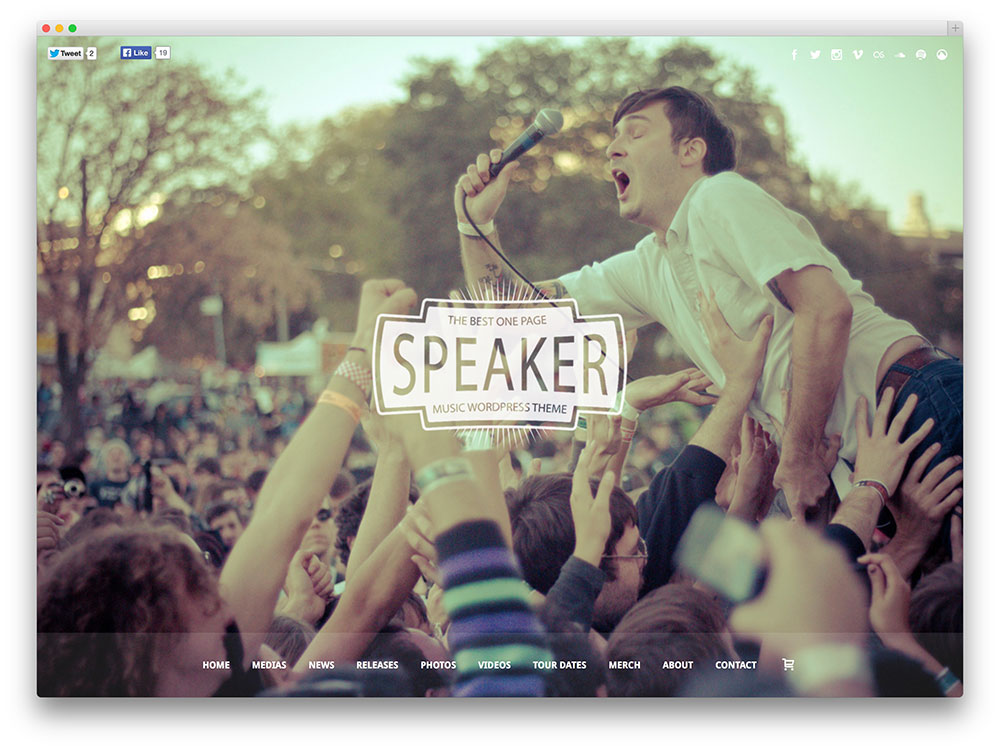speaker WordPress festival theme