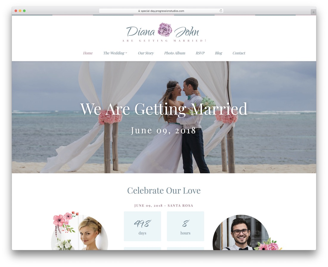 special day event planner wordpress theme