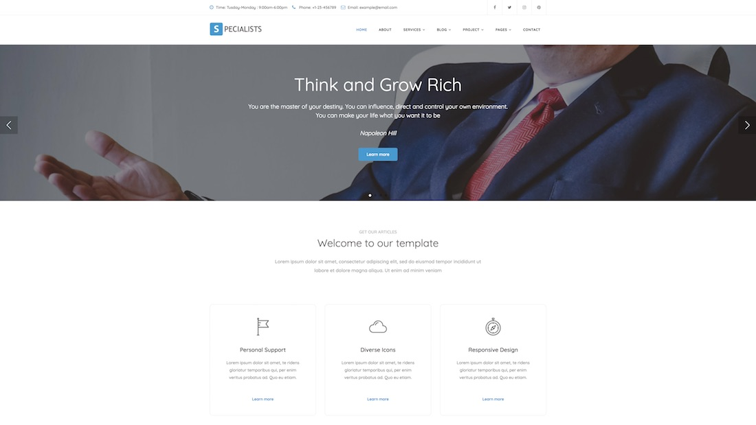 specialist consulting website template