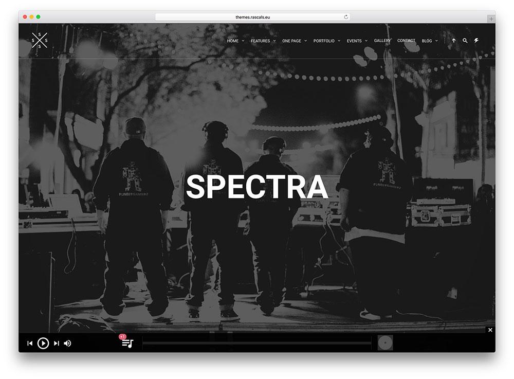 spectra-music-production-wordpress-theme