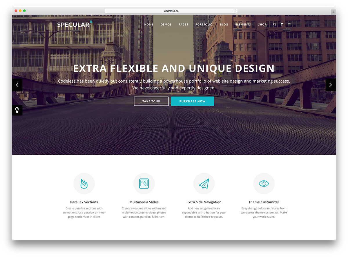 specular-minimal-business-website-template