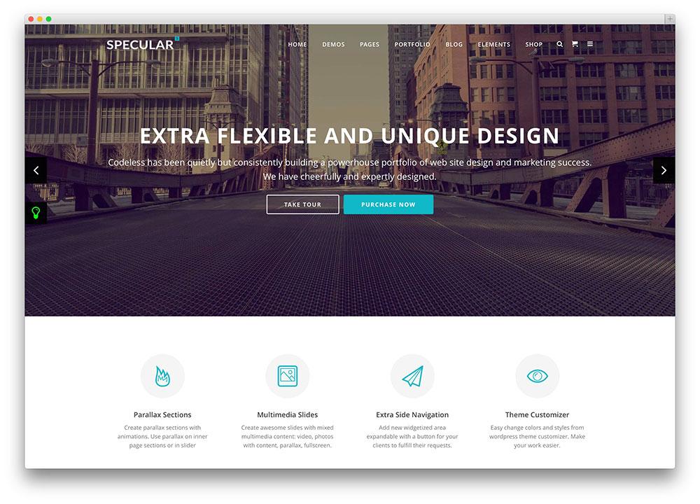 specular - flat design business theme