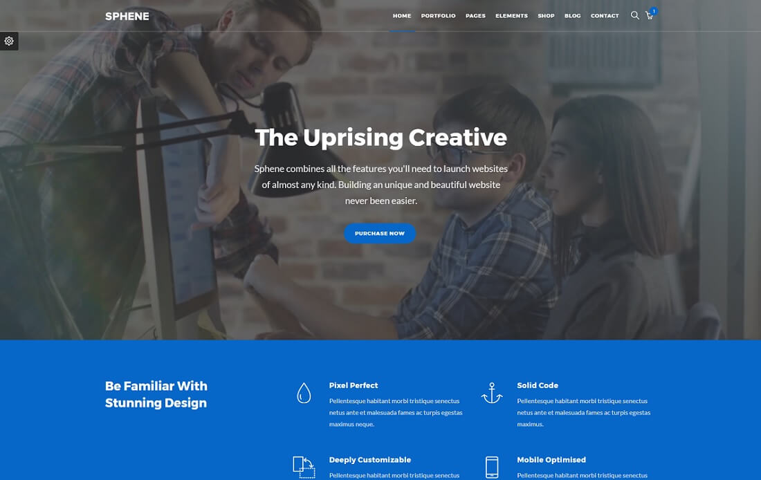 sphene bootstrap business website template