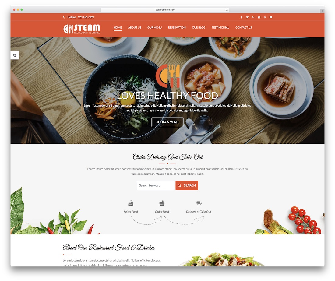 spice n steam food website template