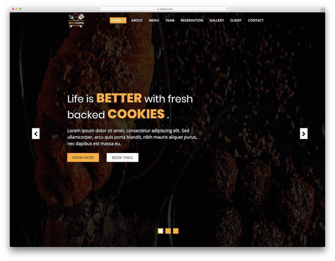 spicy aroma cheap website template