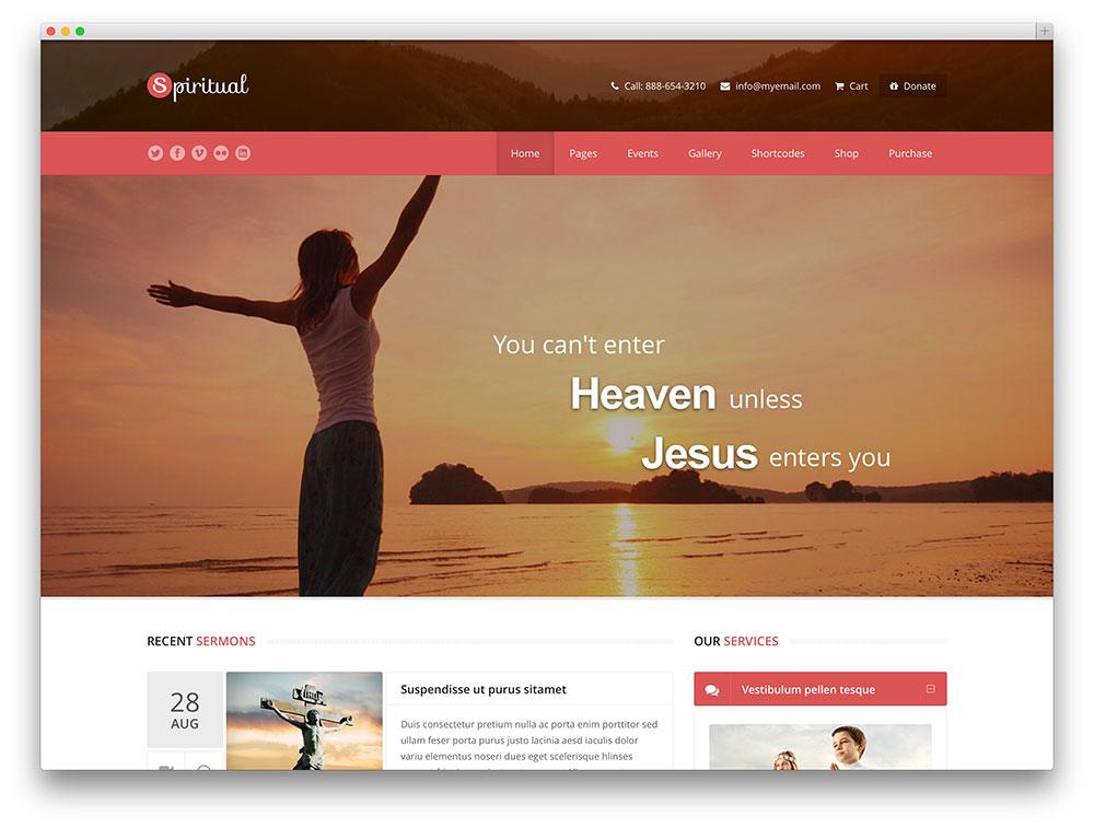 spiritual modern design church theme - Church Website Design Ideas