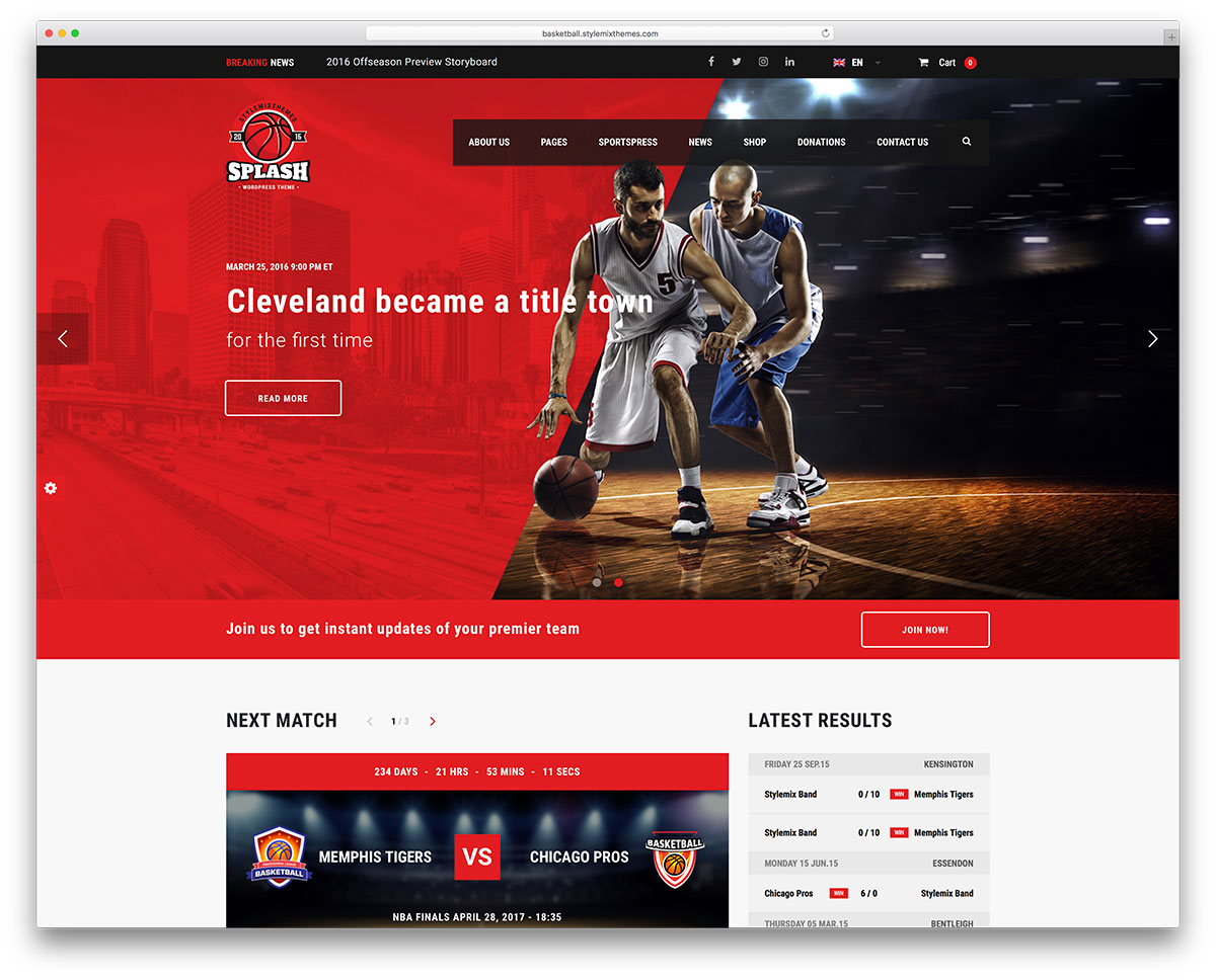 Best WordPress Sports Themes For Magazines and Sports Teams 2018 ...
