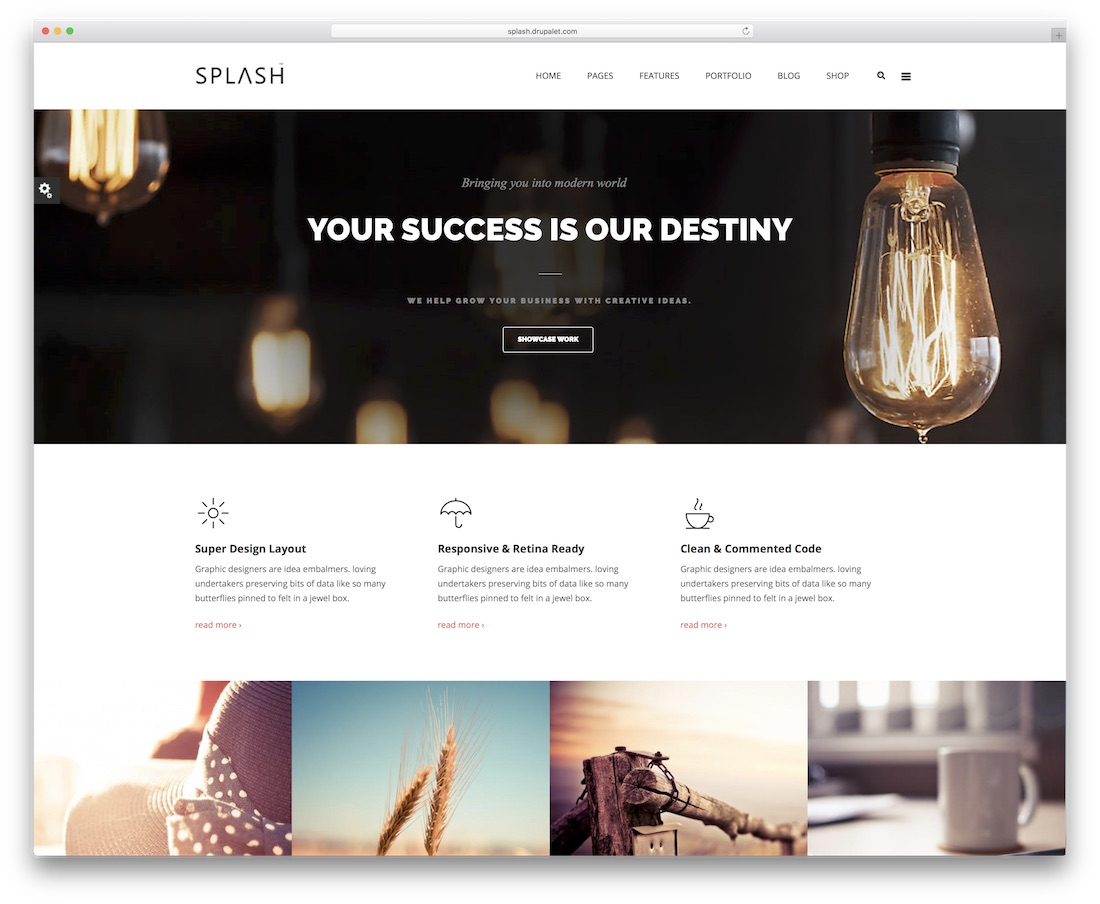 splash drupal business template