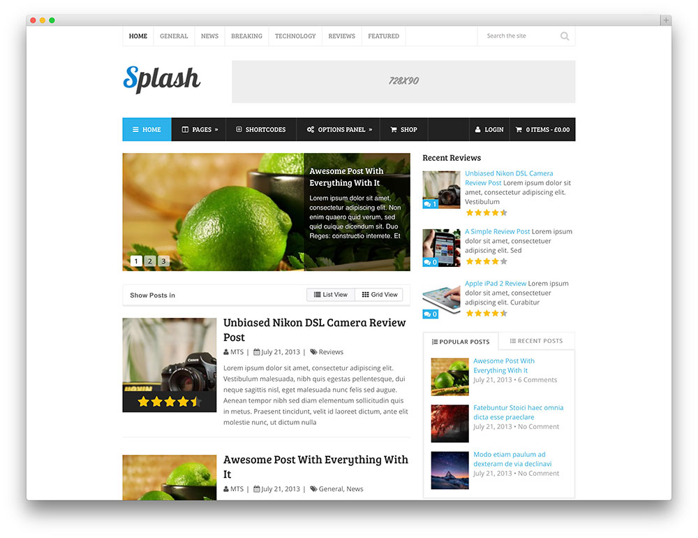 30 amazing magazine wordpress themes 2017 colorlib for Wordpress splash page template