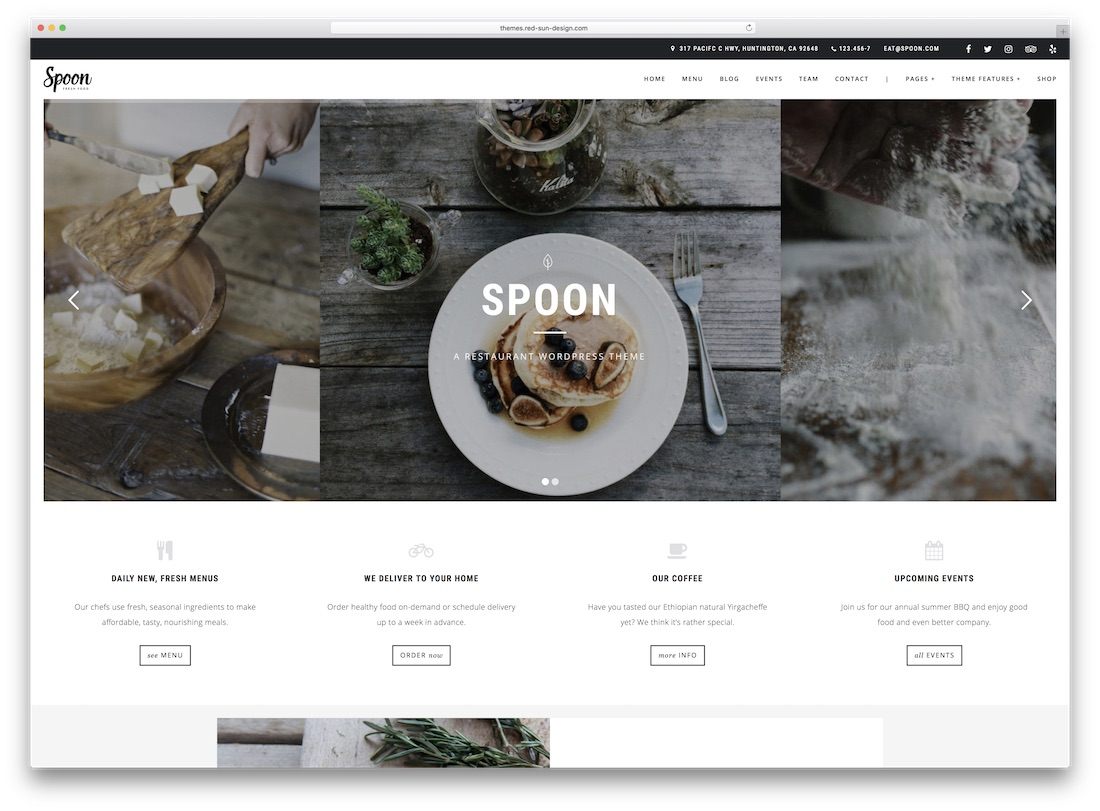 spoon premium catering wordpress theme