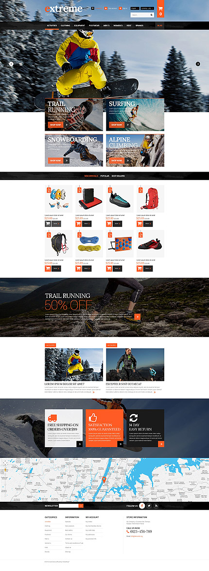 Extreme Clothes & Gear PrestaShop Theme