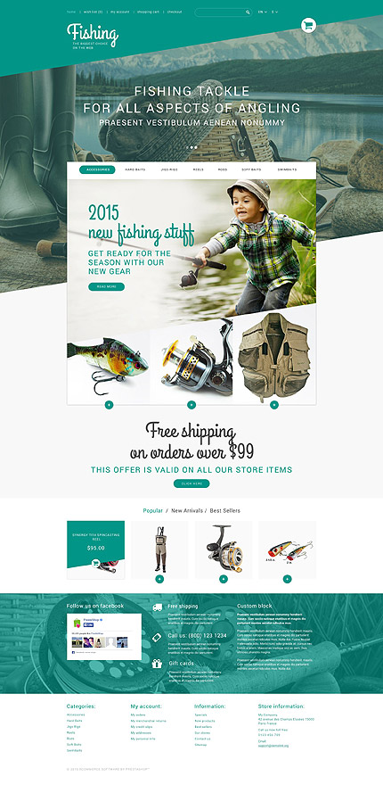 Fishing PrestaShop Theme