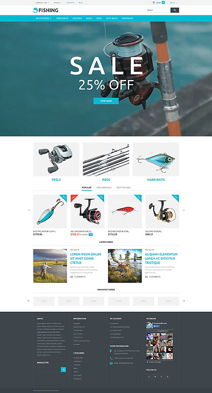 Fishing PrestaShop Template