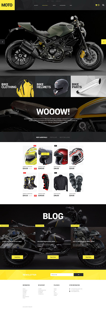 Motorcycle PrestaShop Template